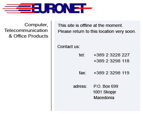 euronet web site offline
